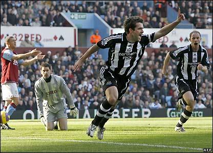 Owen celebrates his fourth-minute goal