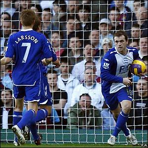 McFadden retrieves the ball after scoring