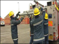 Firefighters in south east Wales