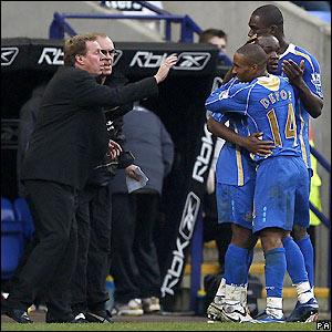 Portsmouth celebrate their winner