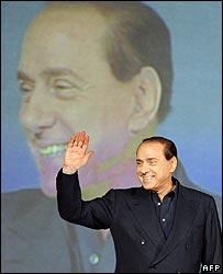 Silvio Berlusconi launches campaign in Milan 9 Feb 2008