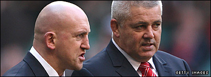 Shaun Edwards (L) and Warren Gatland
