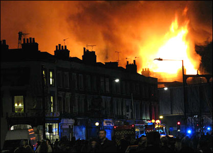 Camden market fire (Stephen Donoghue)