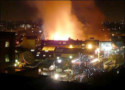 Camden market fire (Nina Schick)