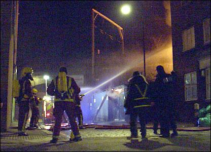 Firemen battle blaze at Camden market (Francis Saul)
