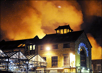 Camden market fire