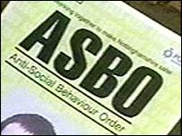 An Asbo sign