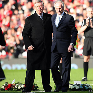 Rival managers Sir Alex Ferguson and Sven-Goran Eriksson
