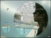 Security guard at Olympic venue