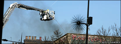 Cherry picker in Camden