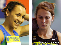 Jessica Ennis and Kelly Sotherton