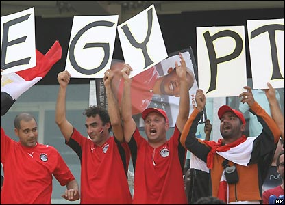 Egypt fans get ready for the final