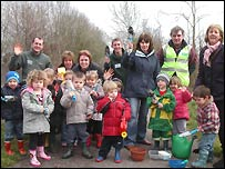 The children from Sturminster Newton Nursery School