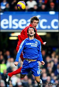 Peter Crouch and Ricardo Carvalho