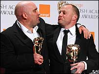 This is England director Shane Meadows with producer Mark Herbert