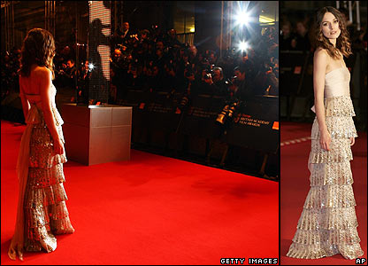 Keira Knightley at the Baftas