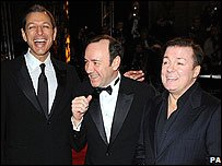 Jeff Goldblum, Kevin Spacey and Ricky Gervais