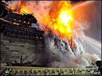 Incendio en la puerta de Namdaemun
