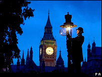 A lamplighter in central London