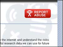 CEOP webpage icon to report abuse