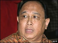The former director for flagship airline Garuda Indonesia, Indra Setiawan (archive image)