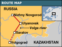 Map of Volga trip
