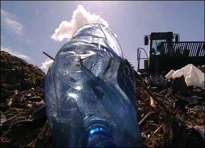 Discarded plastic bottle