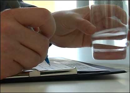 Testing water