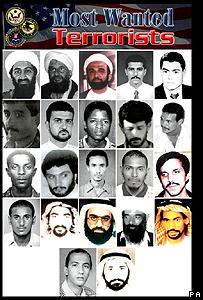 Fotos de los 22 hombres más buscados por Estados Unidos, entre ellos Khalid Sheikh Mohammed