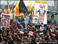 Demonstrators in Tehran