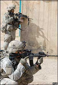 Americans patrolling in Samarra, north of Baghdad