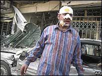 Victim of bomb attack in Baghdad on 11 February
