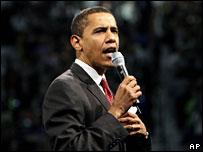 Barack Obama campaigns in Alexandria, Virginia, 10 Feb 2008