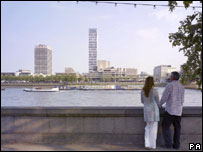 Artists impression of how the tower would look on the Southbank