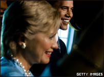 Barak Obama y Hillary Clinton