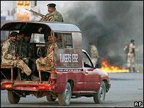 Pakistani troops in Karachi