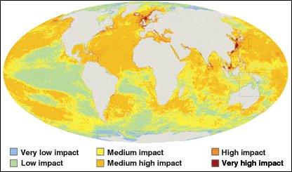 Ocean impact map