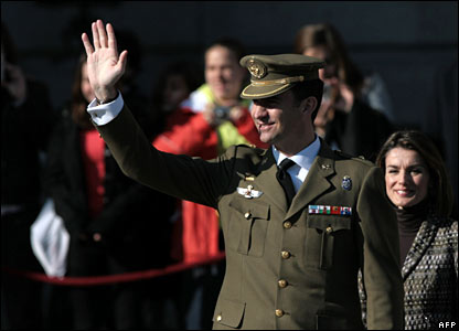 Prince Felipe at ceremony in Madrid marking start of Peninsular War