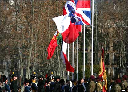 Flags raised at Madrid ceremony marking start of Peninsular War