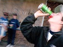 A young person drinking (Pic: SPL)