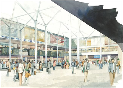 Another drawing of what the station concourse could look like