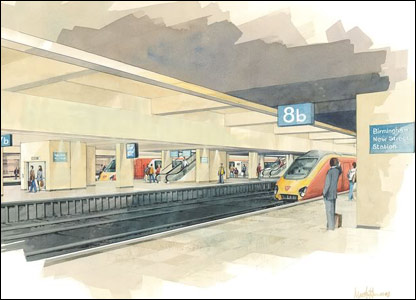 A view of what one of the platforms could look like