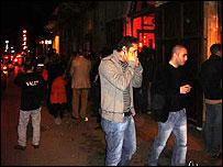 Beirut clubbers on Gemmayze Street