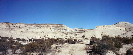 Paisaje de la patagonia en Argentina.