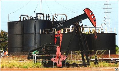 Extracción de petróleo Maracaibo, Venezuela, AP