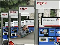 Gasolinera de Exxon en Estados Unidos