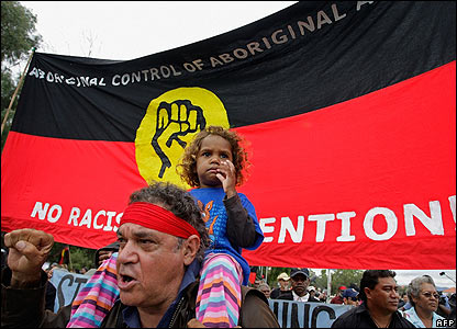 Aboriginal activists march in Canberra