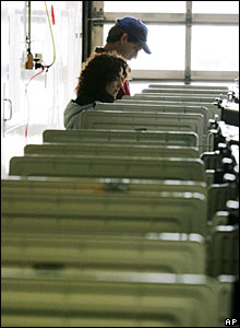 Voters cast their ballots in Maryland