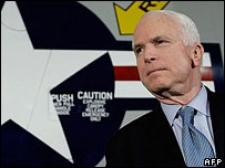John McCain on a campaign stop