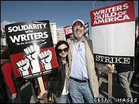 Striking writers